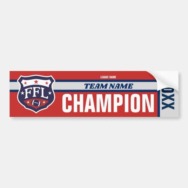 Fantasy Football League Champion Banner