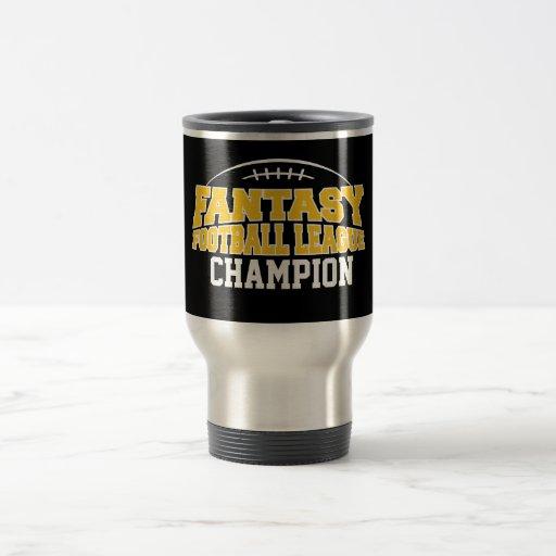 Fantasy Football Champion - Black and Yellow Gold Mug
