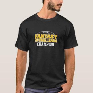 Fantasy Football Champion - Black and Yellow Gold T-Shirt