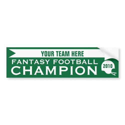 Fantasy Football Champion bumpersticker