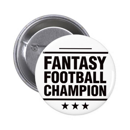 Fantasy Football Champion! Pinback Button