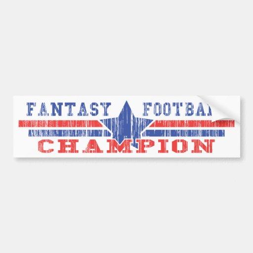 Fantasy Football Champion Car Bumper Sticker