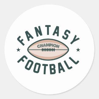Fantasy Football Champion Classic Round Sticker