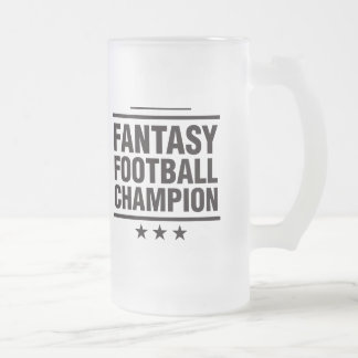 Fantasy Football Champion! Frosted Glass Beer Mug