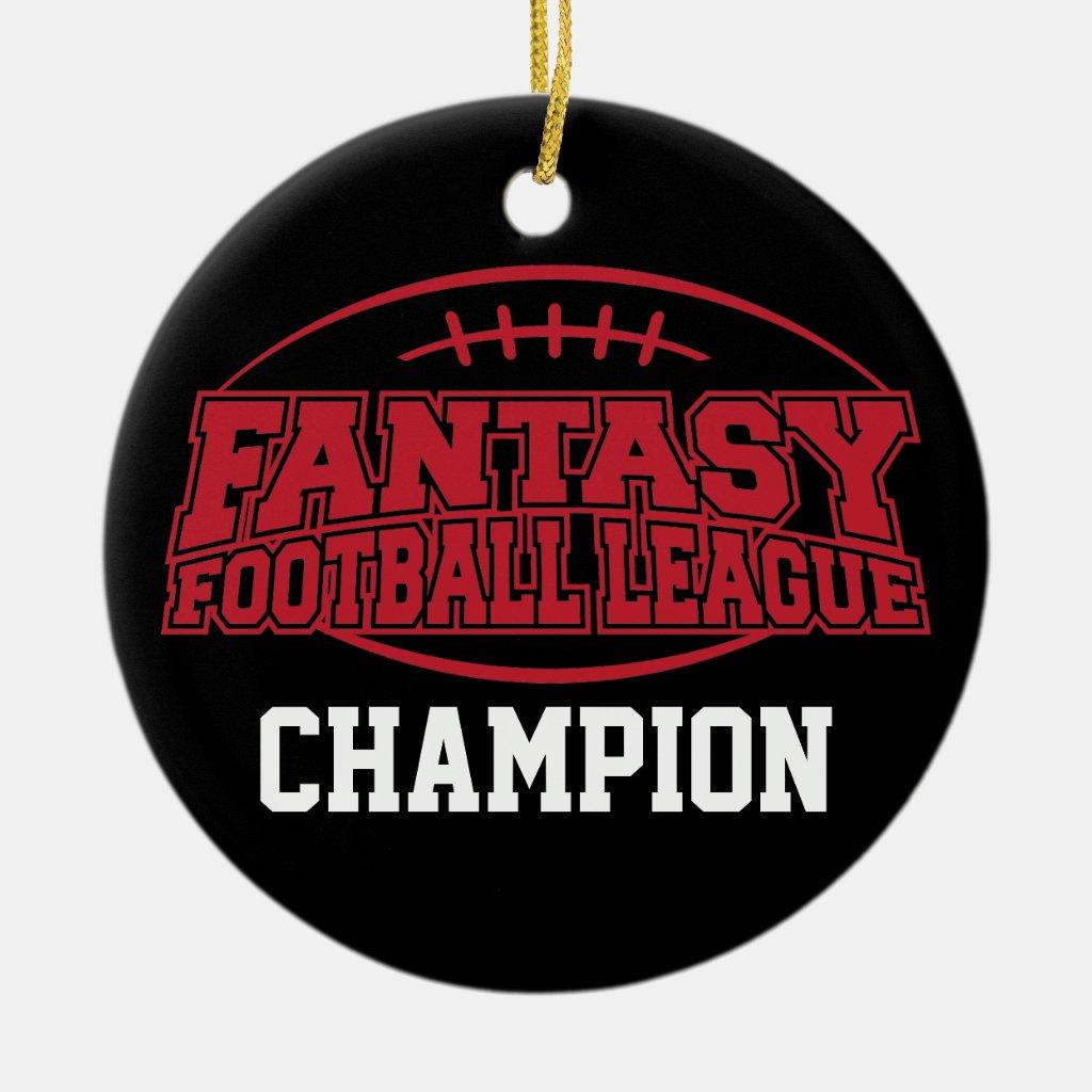Fantasy Football Champion - Funny Sports Gift Ornaments
