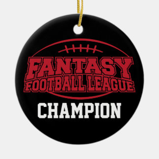 Fantasy Football Champion - Funny Sports Gift Double-Sided Ceramic Round Christmas Ornament