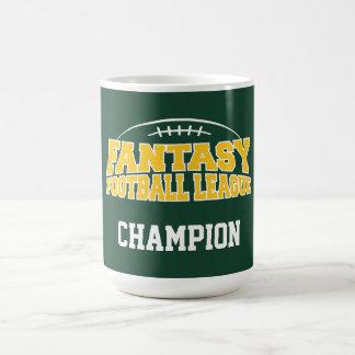 Fantasy Football Champion - Green and Yellow Gold Coffee Mug