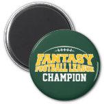 Fantasy Football Champion - Green and Yellow Gold Refrigerator Magnet