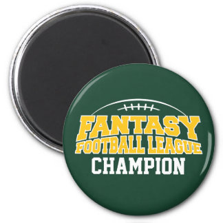 Fantasy Football Champion - Green and Yellow Gold Magnet