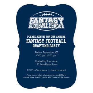 Fantasy Football Champion - Navy and White Invites