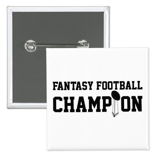 Fantasy Football Champion Pinback Button
