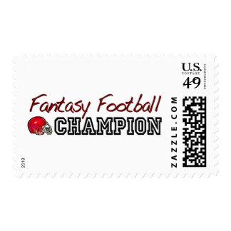 Fantasy Football Champion Postage Stamp