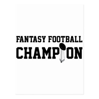 Fantasy Football Champion Postcard