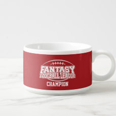 Fantasy Football Champion - Red and White Bowl