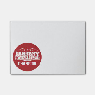 Fantasy Football Champion - Red and White Post-it® Notes