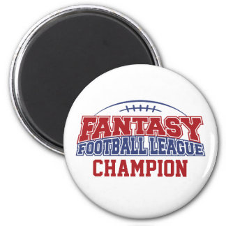 Fantasy Football Champion - Red, White, Blue 2 Inch Round Magnet