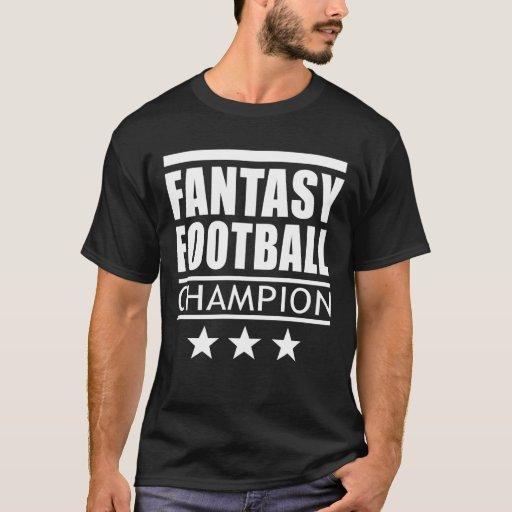Fantasy football champion stars t shirt zazzle for Fantasy football league champion shirt