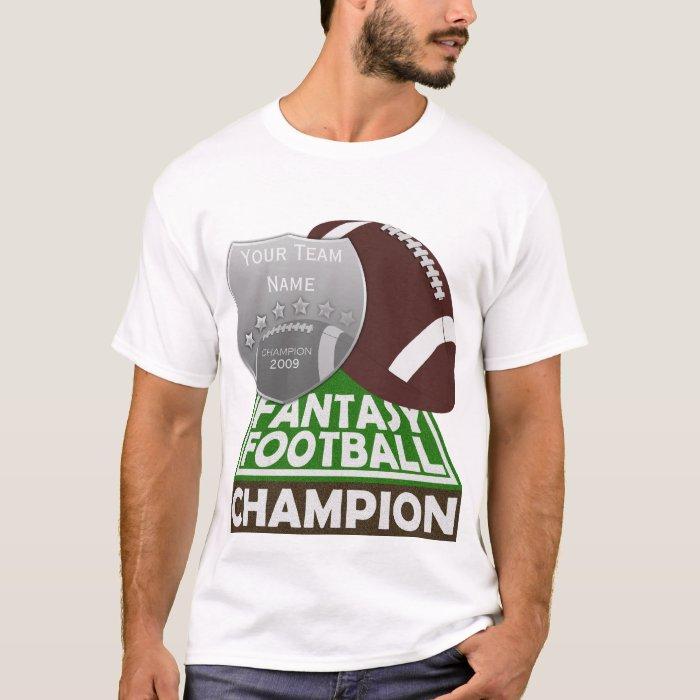 Fantasy football champion t shirt white zazzle for Fantasy football league champion shirt