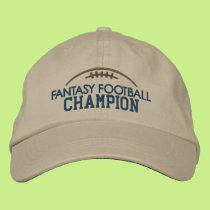 Fantasy Football Champion with Modern Football Embroidered Baseball Cap