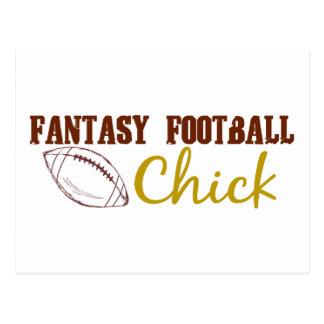 Fantasy Football Chick Postcard