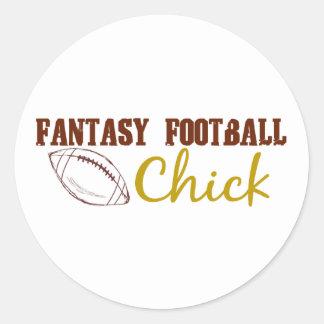 Fantasy Football Chick Stickers