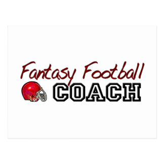 Fantasy Football Coach Postcard