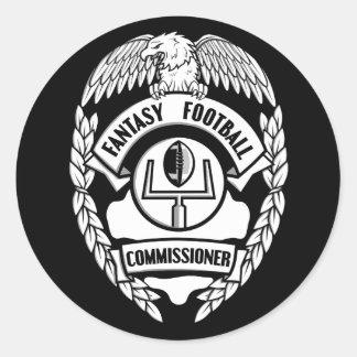 Fantasy Football Commissioner Classic Round Sticker