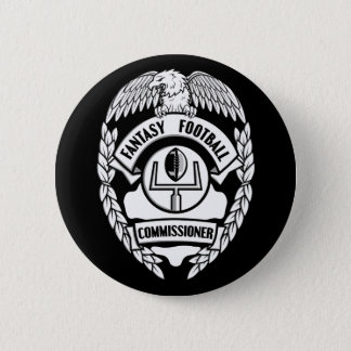 Fantasy Football Commissioner Pinback Button