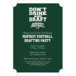 Fantasy Football - Don't Drink and Draft Card