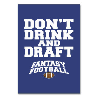 Fantasy Football Don't Drink and Draft - Navy Blue Card