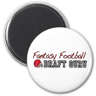 Fantasy Football Draft Guru 2 Inch Round Magnet