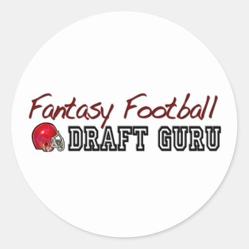 Fantasy Football Draft Guru Classic Round Sticker