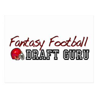 Fantasy Football Draft Guru Postcard