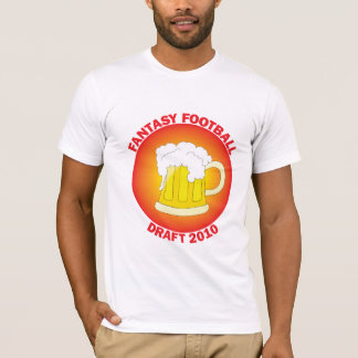 Fantasy Football Draft Red T-Shirt