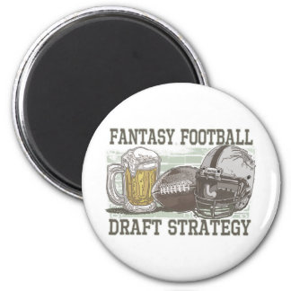 Fantasy Football Draft Strategy 2 Inch Round Magnet
