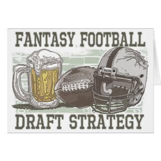 Fantasy Football Draft Strategy Card