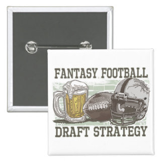Fantasy Football Draft Strategy Pinback Button