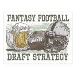 Fantasy Football Draft Strategy Postcard