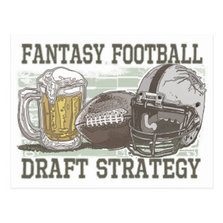 Fantasy Football Draft Strategy Postcard