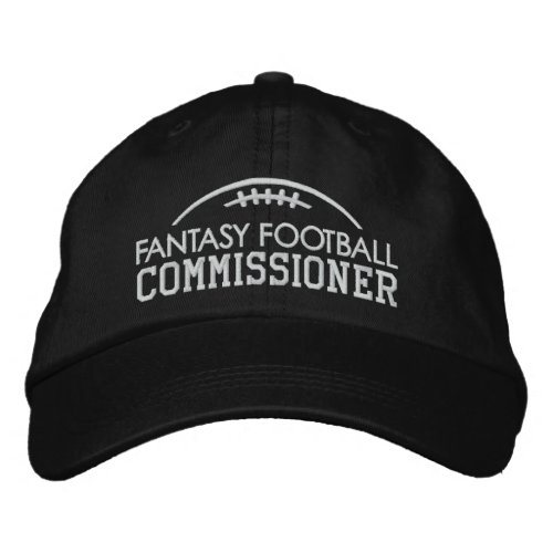 Fantasy Football Fan Gear with Commissioner Embroidered Baseball Cap