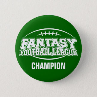 Fantasy Football FFL CHAMPION Pinback Button