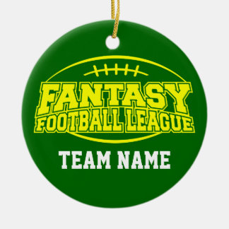 Fantasy Football - Funny Sports Gift Double-Sided Ceramic Round Christmas Ornament