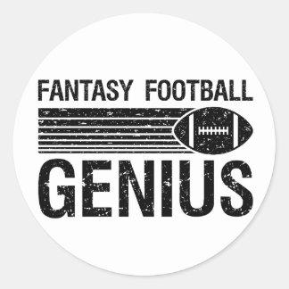 Fantasy Football Genius 1 Classic Round Sticker