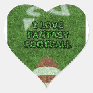fantasy football heart sticker