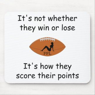 Fantasy Football - It's How They Score Silhouette Mouse Pad