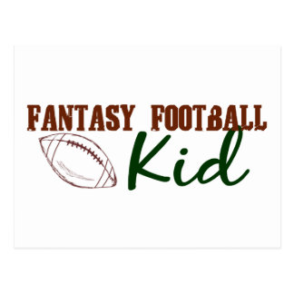 Fantasy Football Kid Postcard