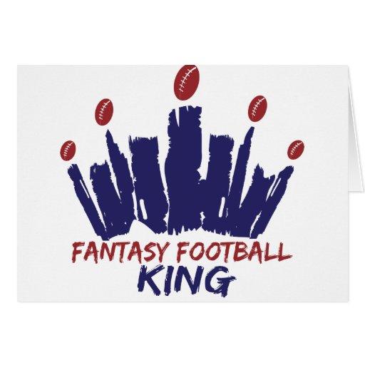 Fantasy Football King Greeting Card