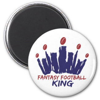 Fantasy Football King Fridge Magnet