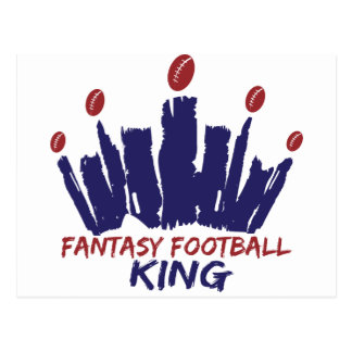 Fantasy Football King Postcard