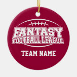 Fantasy Football League Double-Sided Ceramic Round Christmas Ornament